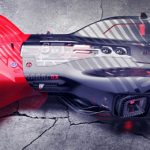 Futuristic Honda Cyberrace Concept for Future Sports Car Racing Competition