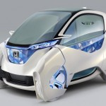 Honda Micro Commuter : Compact Futuristic Electric City Commuter with Joystick Steering System