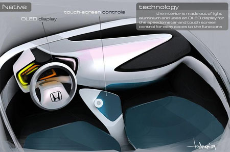 honda native 3 seated concept car