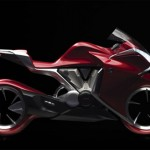 Honda V4 Motorcycle Concept with Hubless Wheels