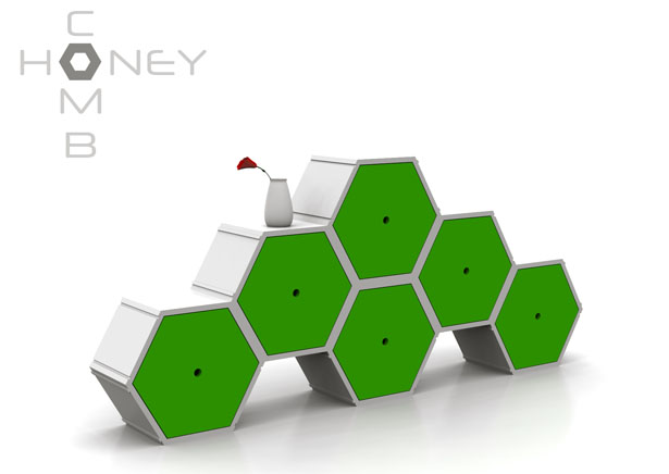 Honeycomb Modular Furniture System by NyadaDesign