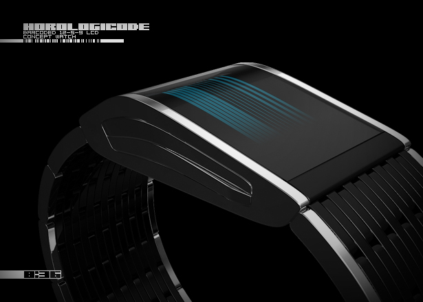 Horologicode LCD Watch by Sam Jerichow