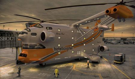 Hotelicopter : The World's First Flying Hotel