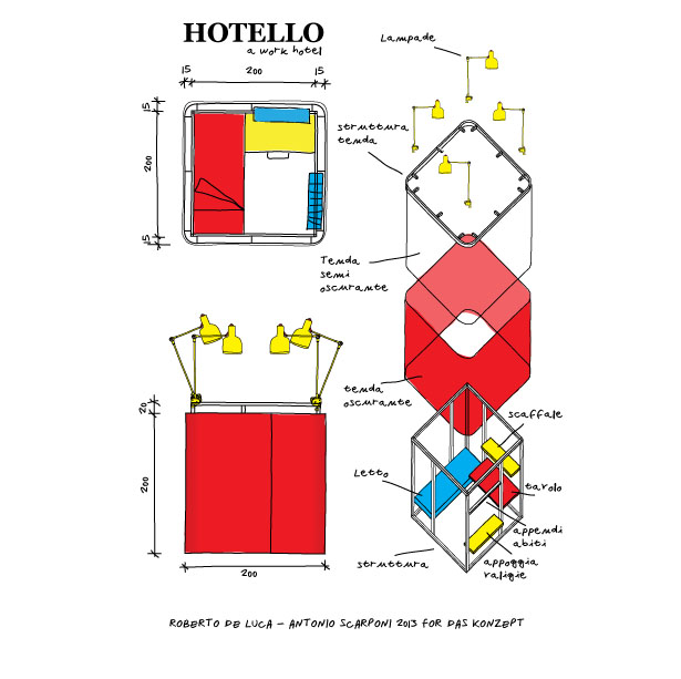 Hotello Portable Hotel Room by Conceptual Devices