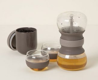 Modern Hourglass Tea-Brewing Ritual Set Helps to Support Calming Ritual for Steeping Your Tea
