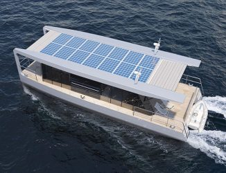 HT – Combination of a Catamaran and a Houseboat for Traveling