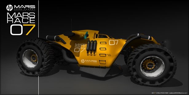 Futuristic HP MARS RACE 07 Concept Vehicle for MARS by Vasilatos Ianis