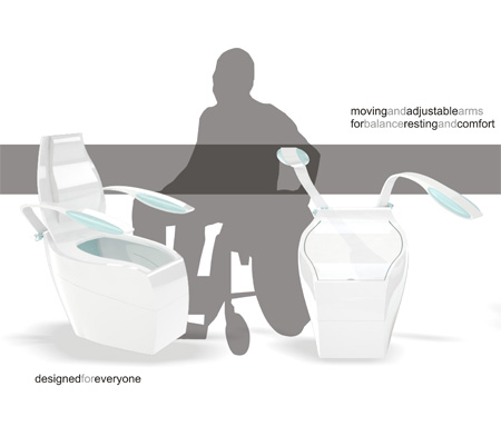 HT4 Concept Toilet for Handicapped Individuals | Tuvie