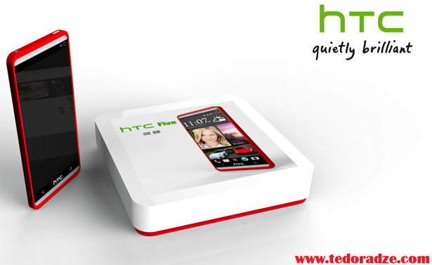 HTC 5 Concept Mobile Phone by Giorgi Tedoradze