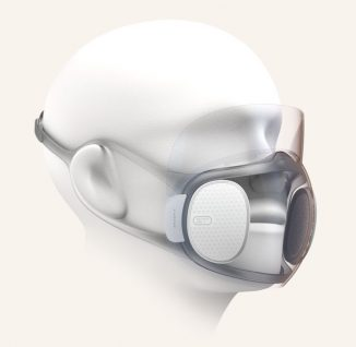 Huami Amazfit Aeri Concept Face Mask Features Anti-fog, Translucent Frame and Self-Disinfect System Using UV Lights