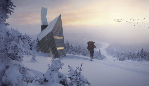 Huba Mountain Shelter by Michal Holcer
