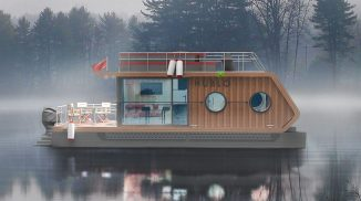HUBLO Modern Houseboat Concept for A Family of Four
