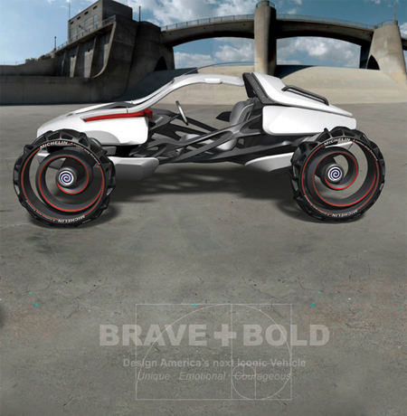 Hurricane Car Concept with Innovative Body and Wheel Suggests a New Paradigm of Automobile's Structure