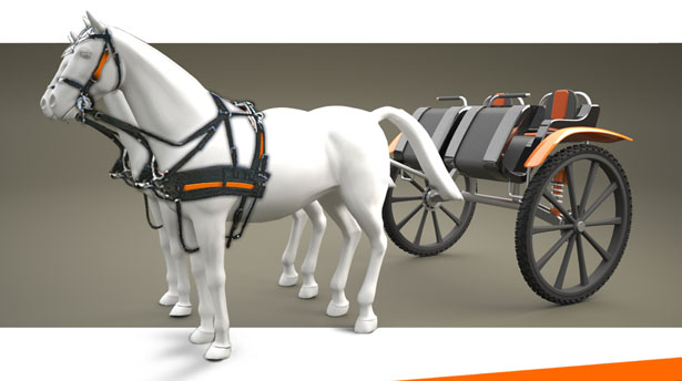 Hx2 Horse-Drawn Hitch Wagon by Guillaume Diolez
