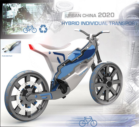 hybrid motorcycle for china in 2020