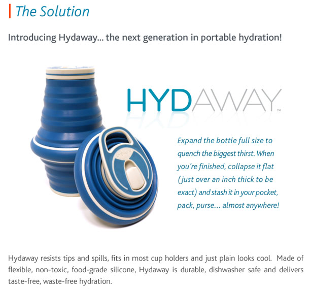 Hydaway Collapsible Water Bottle by Niki Singlaub