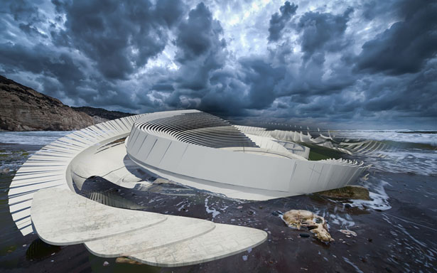 Hydroelectric Tidal House Project by Margot Krasojevic