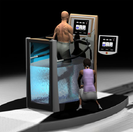 hydrotherapy treatment concept