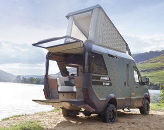 Hymer VisionVenture Concept Motorhome Has a Staircase to Access The Bedroom
