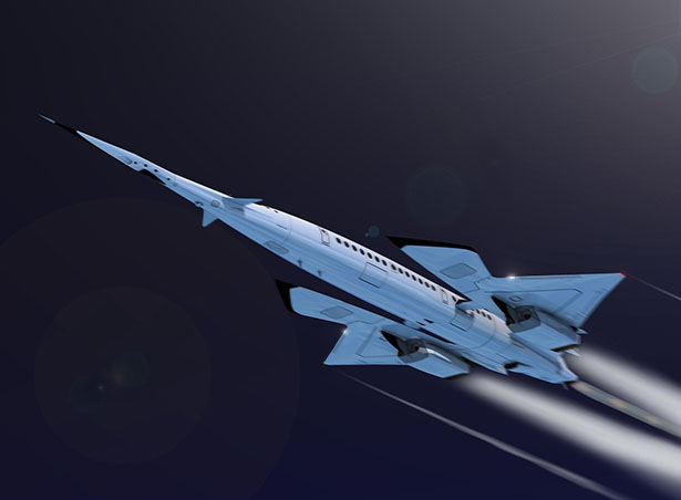 Hyper Sting - Future Supersonic Commercial Airplane by Oscar Vinals