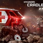 Futuristic Hyundai Elevate Walking Vehicle Concept Walks and Climbs Over Treacherous Terrains