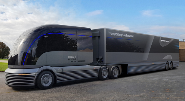 Hyundai HDC-6 NEPTUNE Hydrogen-Powered Class 8 Heavy Duty Truck - Watch Out Tesla!