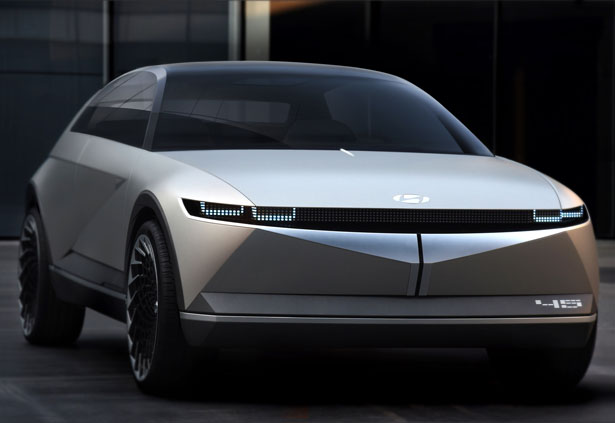Hyundai Motor 45 EV Concept Car is Based on The Iconic Hyundai Pony