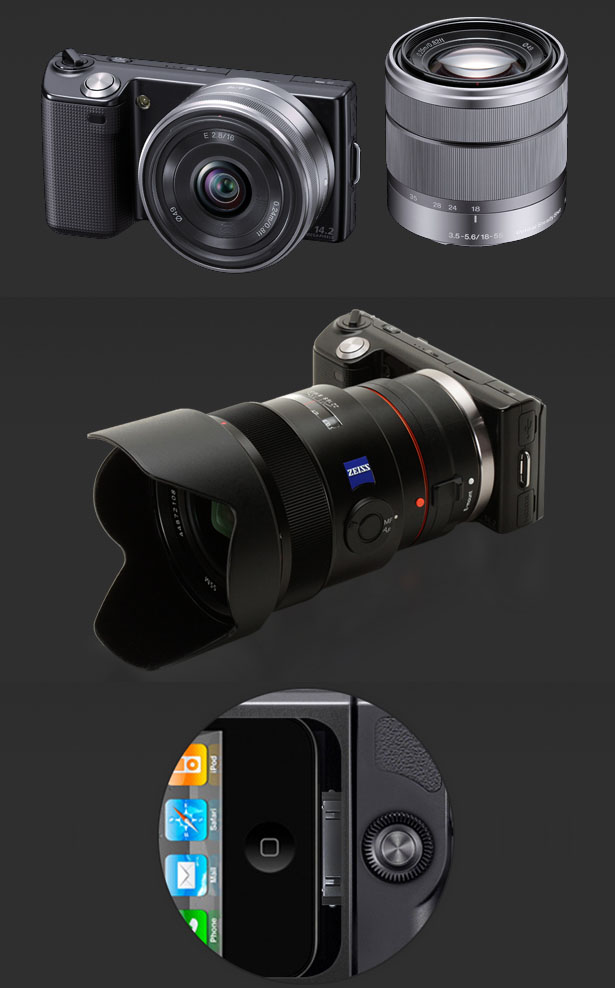 iCam integrates iphone on digital camera