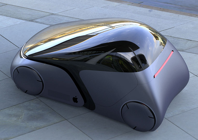 Futuristic Apple Inspired iCar Concept Car by Ashish Gogte