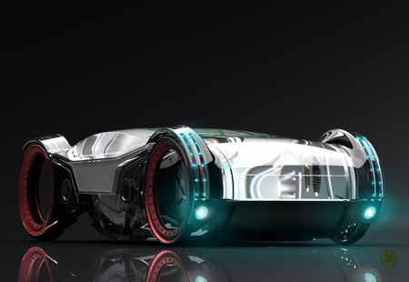 iCar Futuristic Eco-Friendly Concept Car In The Year 2027