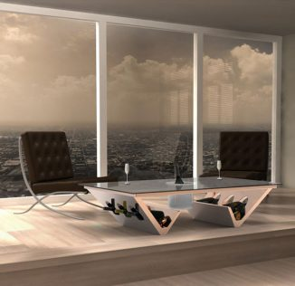 Futuristic Ice Bucket Coffee Table Concept by James Langton