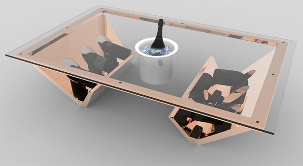 Ice Bucket Coffee Table by James Langton