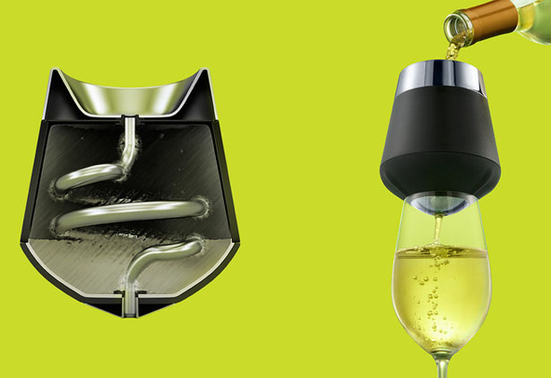 Icecap Wine Chiller and Aerator by Peter Provart