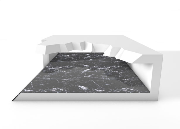 Icer Coffee Table by Ismael G. Montero