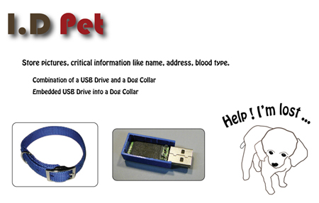 I.D Pet : Combination of A Dog Collar and A USB Drive