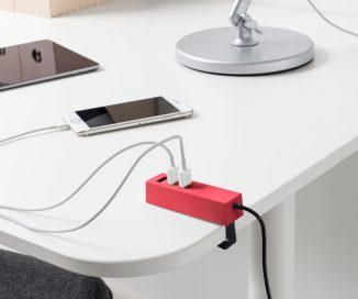 Modern IKEA LÖRBY USB Charger with Clamp for Your Office Desk