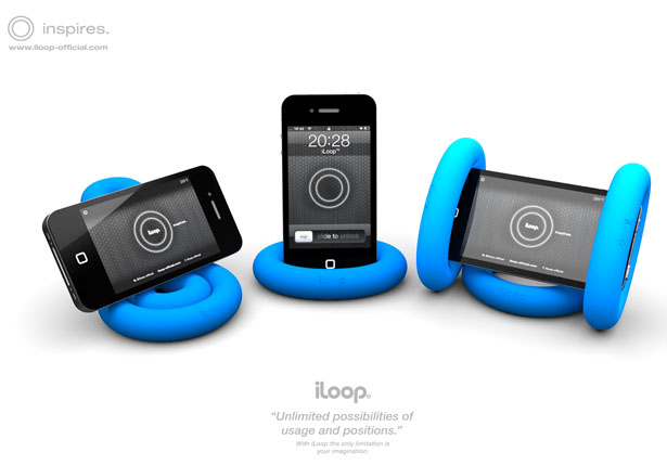 iLoop Phone Holder Doubles As Hand Grip Exercise Tool