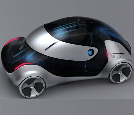imove electric car gives the touch of apple into future transportation tuvie. Black Bedroom Furniture Sets. Home Design Ideas