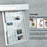 IN Electronic Newspaper Concept with Embedded Alarm Will Wake You Up to An Updated Feed of News