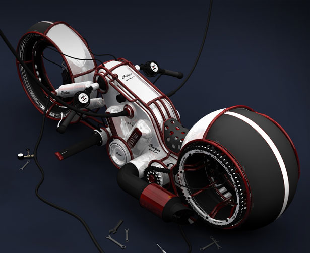 Indian Gorilla V4 Motorcycle by Vasilatos Ianis