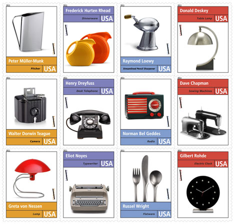 Industrial Design History Postage Stamps