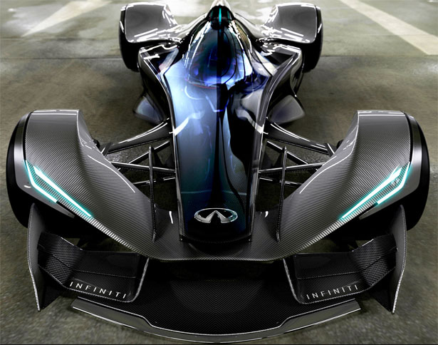 Futuristic Infiniti SYPNATIQ Race Car Concept for A R C Race