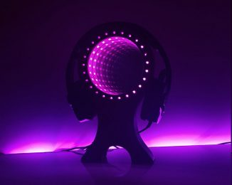 Cool RGB LED Infinity Mirror Headset Stand for Your Gaming Room