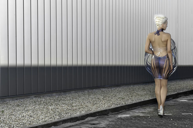 Intimacy 2.0 Dress Turns Transparent When You're Turned On by Studio Roosegaarde
