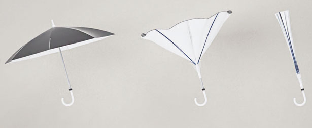 Inverted Umbrella Folds Inside Out by Ahn Il-Mo, Kim Tae-Han and Seo Dong-Han