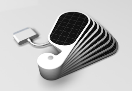 ipetal solar charger for iphone