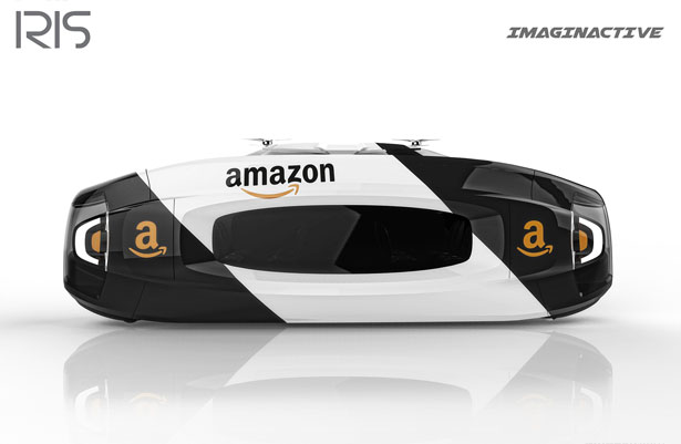 Iris Robotic Delivery System Proposal for Amazon by Charles Bombarider and Martin Rico