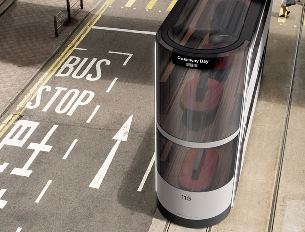 Island Double-Decker Driverless Tram for Hong Kong by Andrea Ponti