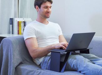 iSwift Pi Paper-Thin Foldable Laptop Desk with Two Triangle Legs