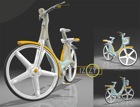 izzy plastic city bike concept